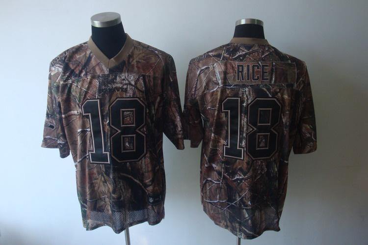 Seahawks 18 Rice camo Jerseys