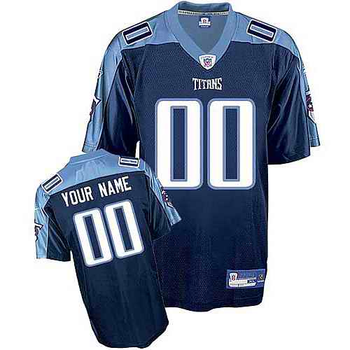 Tennessee Titans Youth Customized dark blue Jersey