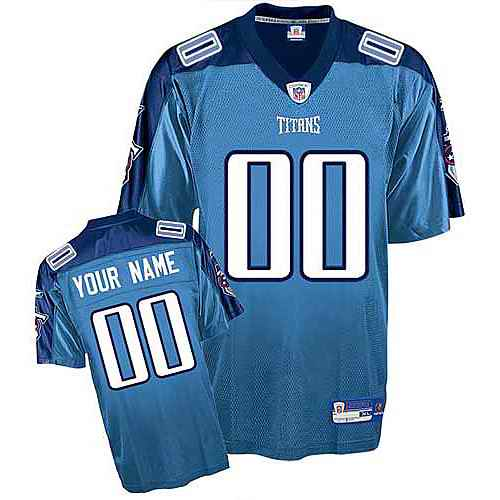 Tennessee Titans Youth Customized light blue Jersey