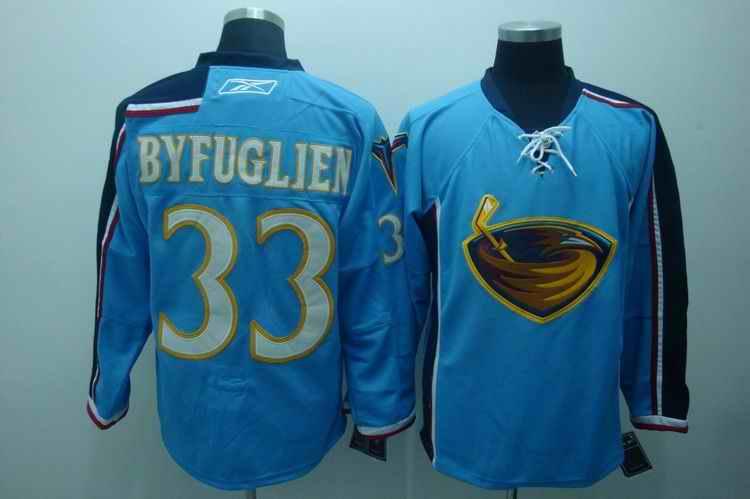Thrashers 33 Byfuglien blue Jerseys