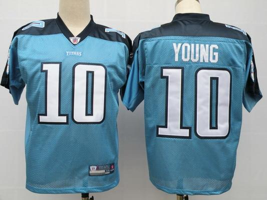 Titans 10 Vince Young baby blue Jerseys