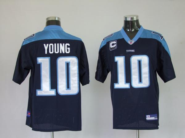 Titans 10 Vince Young dark blue Jerseys