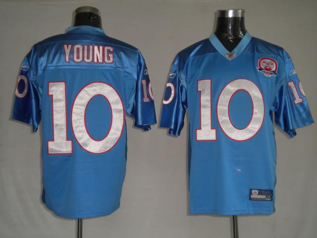 Titans 10 Vince Young light blue Jerseys