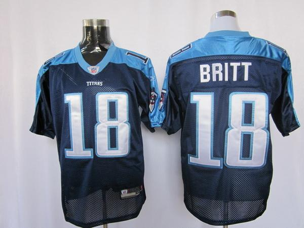Titans 18 Britt dark blue Jerseys