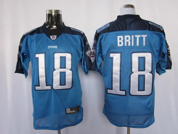 Titans 18 Britt light blue Jerseys
