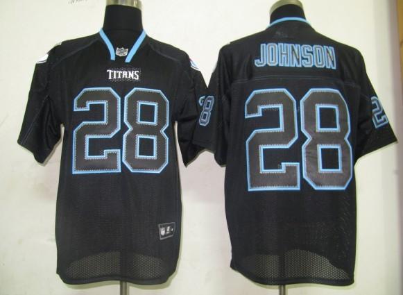 Titans 28 Chris Johnson black field shadow Jerseys