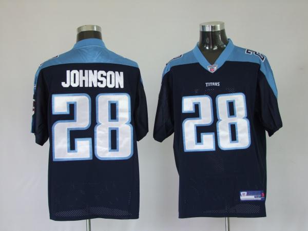 Titans 28 Chris Johnson dark blue Jerseys