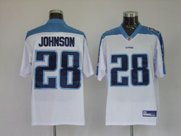 Titans 28 Chris Johnson white Jerseys