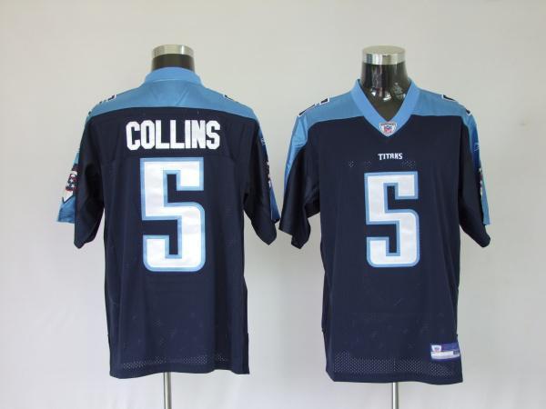 Titans 5 Kerry Collins dark blue Jerseys