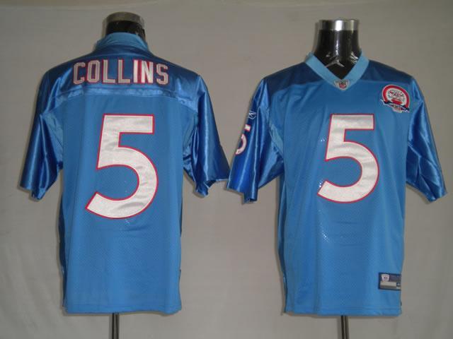 Titans 5 Kerry Collins light blue Jerseys