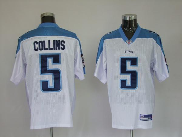 Titans 5 Kerry Collins white Jerseys