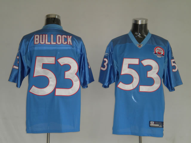 Titans 53 Keith Bullock light blue Jerseys