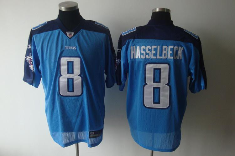 Titans 8 Hasselbeck light blue Jersey