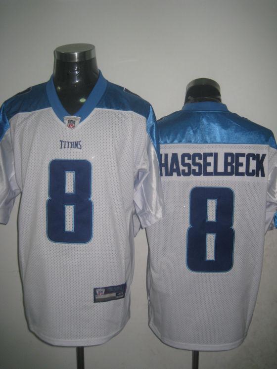 Titans 8 Hasselbeck white Jersey