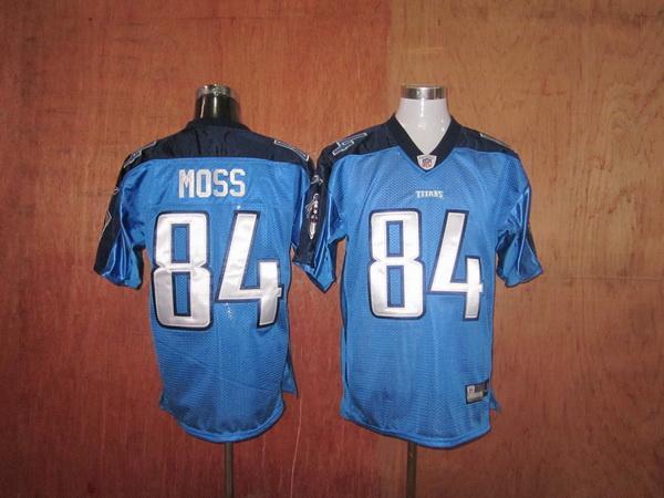 Titans 84 Moss light blue Jerseys