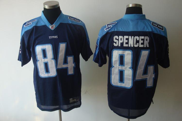 Titans 84 Spencer dark blue Jerseys