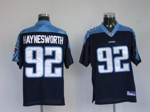 Titans 92 Albert Haynesworth dark blue Jerseys