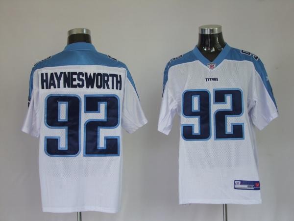 Titans 92 Albert Haynesworth white Jerseys