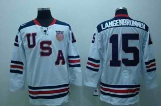USA 15 LANGENBRUNNER White Jerseys