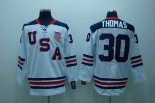 USA 30 THOMAS White Jerseys