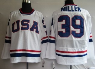 USA 39 MILLER White Jerseys