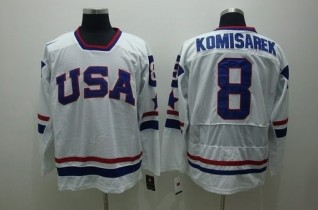 USA 8 KOMISAREK White Jerseys