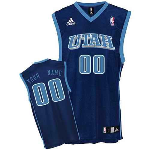 Utah Jazz Youth Custom blue Utah Jersey