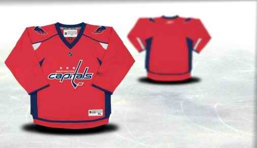Washington Capitals Youth Customized Red Jersey