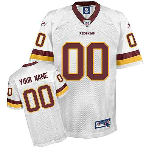 Washington Redskins Men Customized White Jersey
