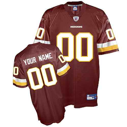 Washington Redskins Youth Customized red Jersey