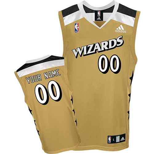 Washington Wizards Youth Custom golden Jersey