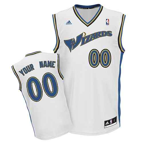 Washington Wizards Youth Custom white Jersey