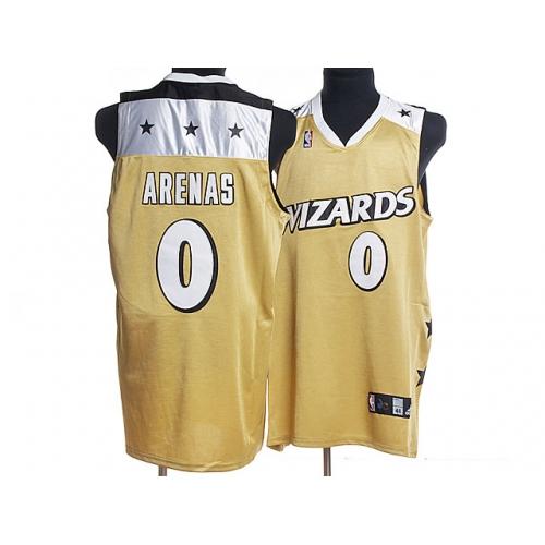 Wizards 0 Gilbert Arenas Yellow Jerseys