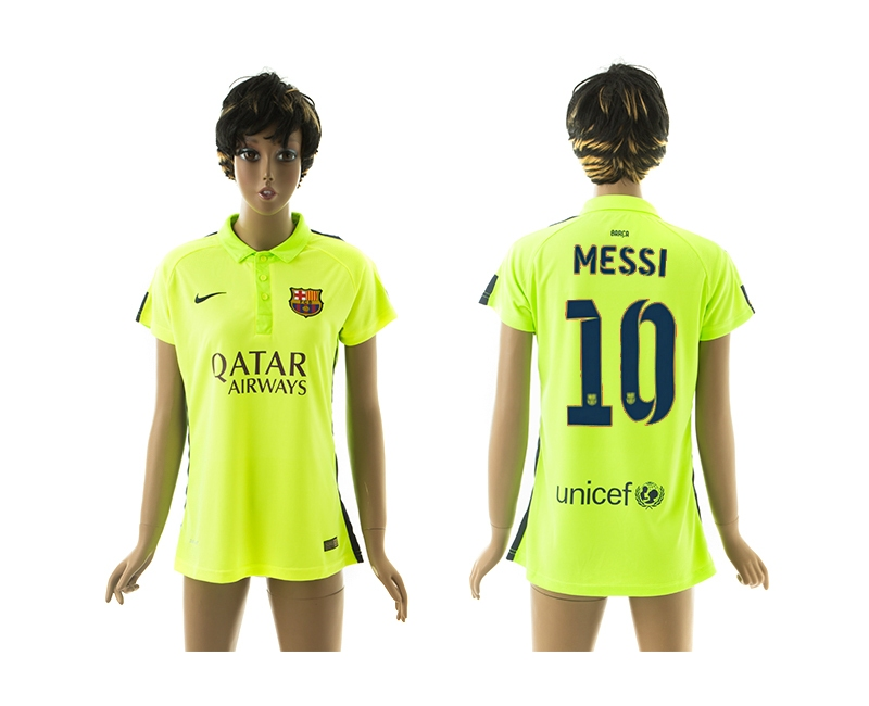 2014-15 Barcelona 10 Messi Third Away Women Jerseys
