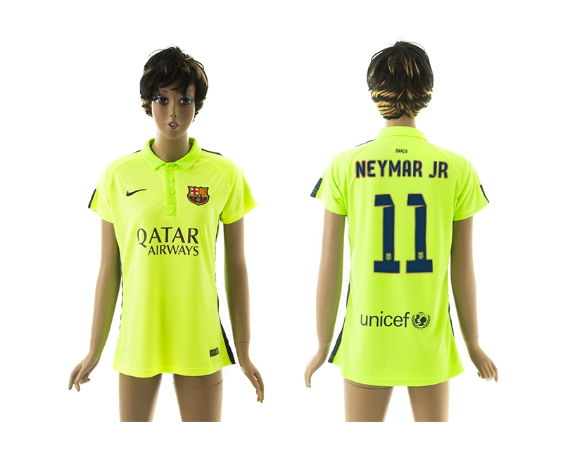 2014-15 Barcelona 11 Neymar Jr Third Away Women Jerseys