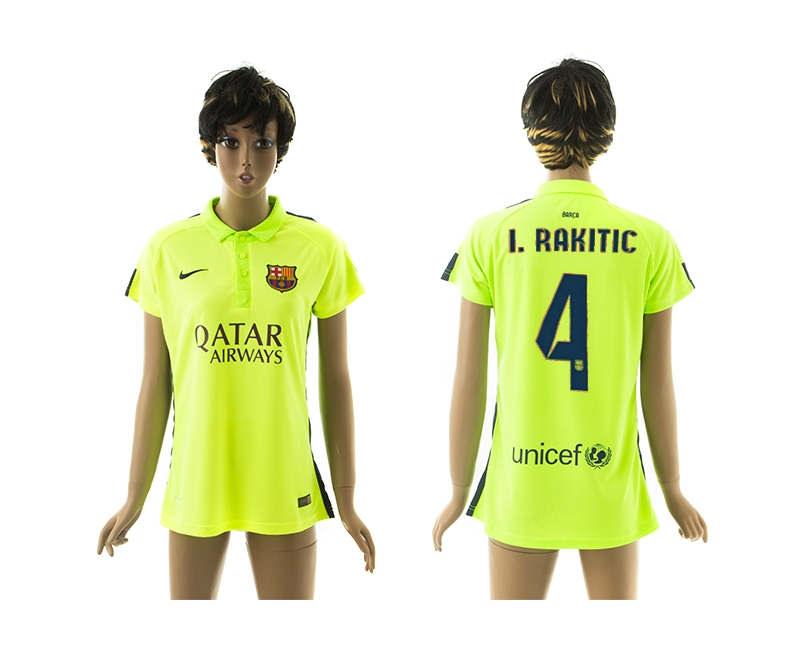 2014-15 Barcelona 4 I.Rakitic Third Away Women Jerseys