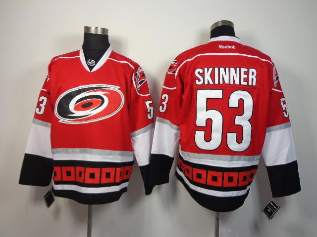 Hurricanes 53 Skinner Red New Jerseys