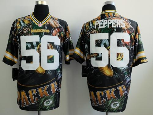 Nike Packers 56 Peppers Stitched Elite Fanatical Version Jerseys