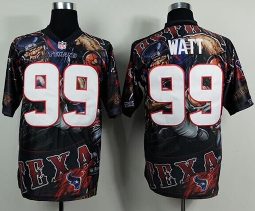 Nike Texans 99 Watt Stitched Elite Fanatical Version Jerseys
