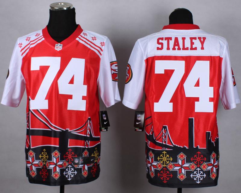 Nike 49ers 74 Staley Noble Elite Jerseys