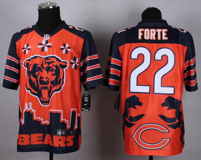 Nike Bears 22 Forte Noble Elite Jerseys