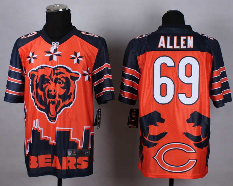 Nike Bears 69 Allen Noble Elite Jerseys