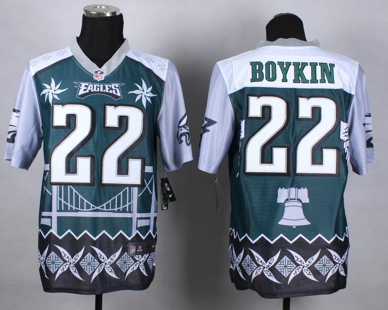 Nike Eagles 22 Boykin Noble Elite Jerseys