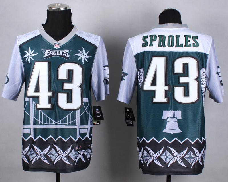Nike Eagles 43 Sproles Noble Elite Jerseys