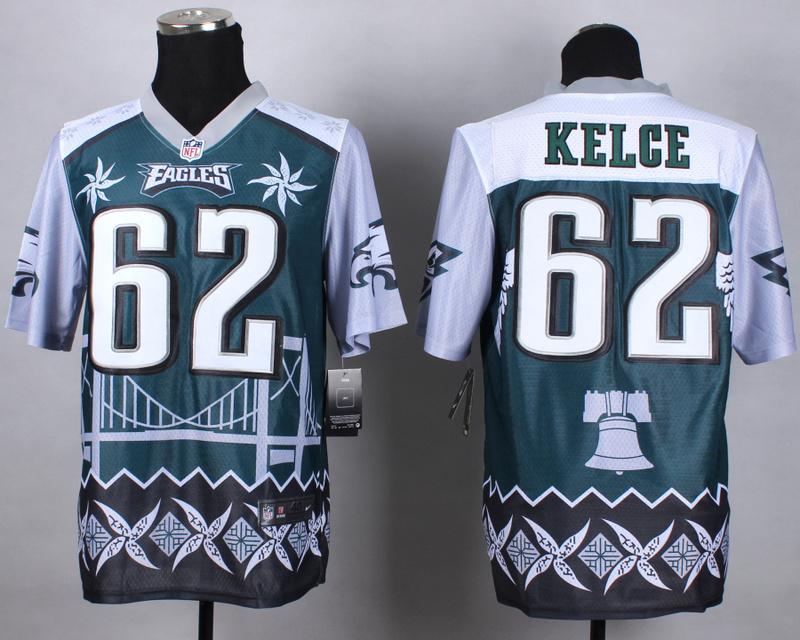 Nike Eagles 62 Kelce Noble Elite Jerseys