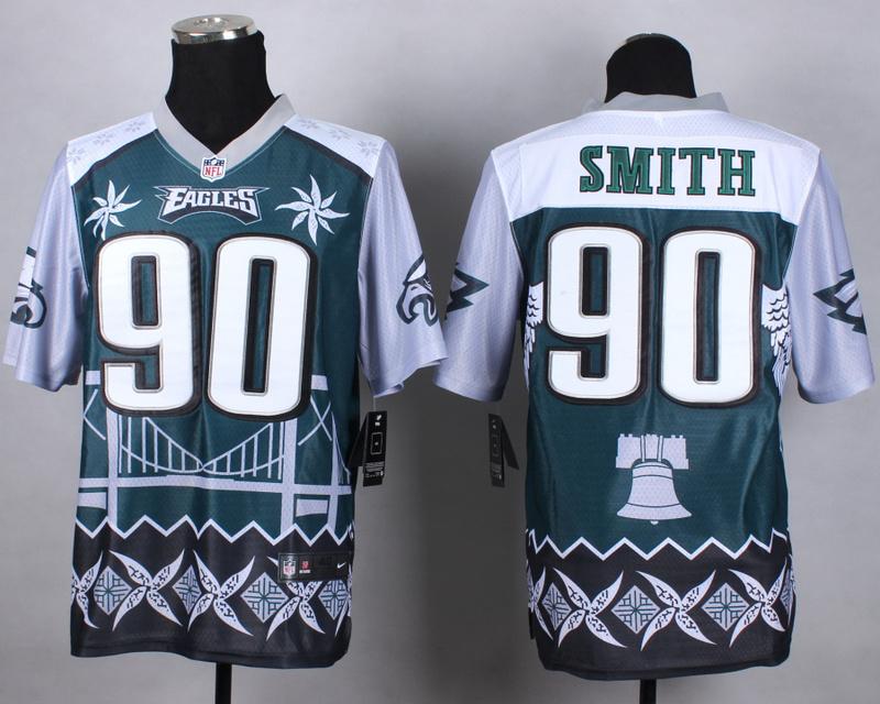 Nike Eagles 90 Smith Noble Elite Jerseys