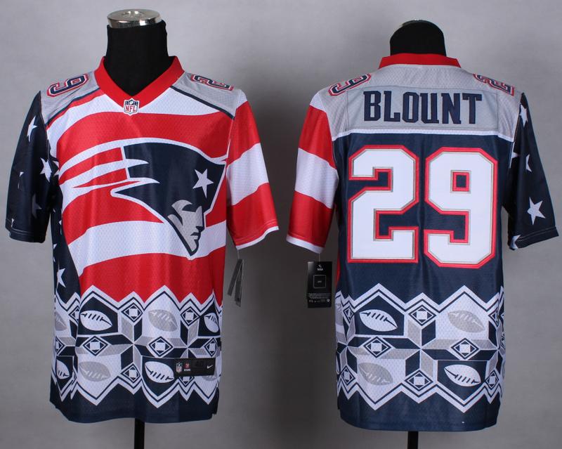 Nike Patriots 29 Blount Noble Elite Jerseys