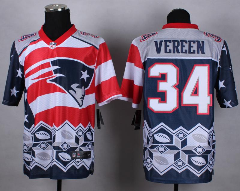 Nike Patriots 34 Vereen Noble Elite Jerseys