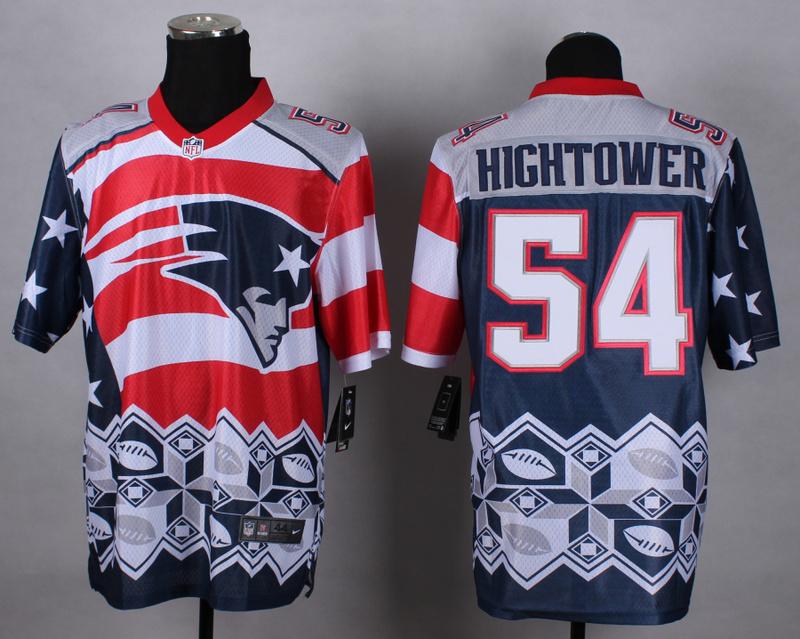 Nike Patriots 54 Hightower Noble Elite Jerseys