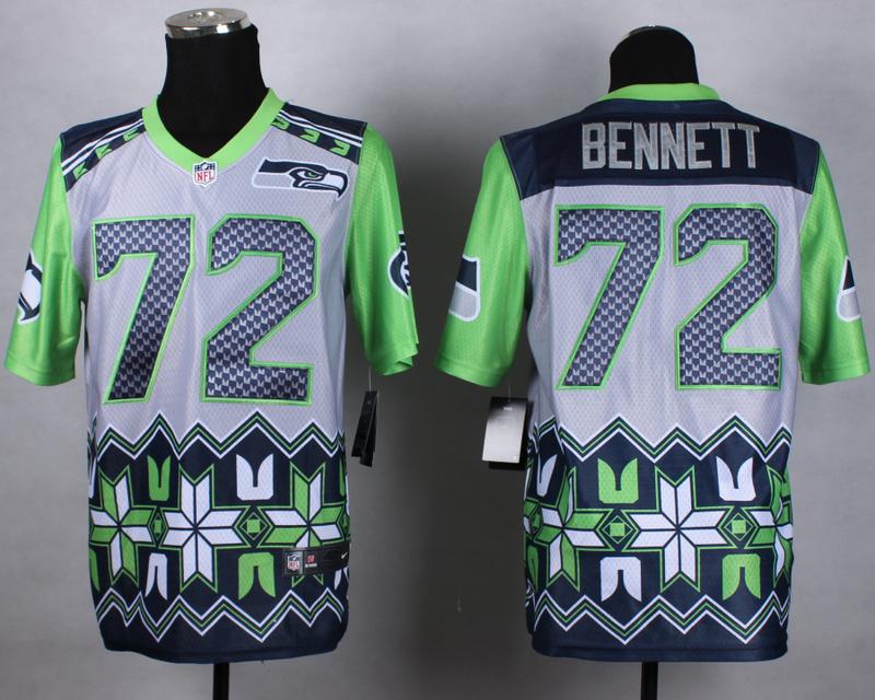 Nike Seahawks 72 Bennett Noble Elite Jerseys